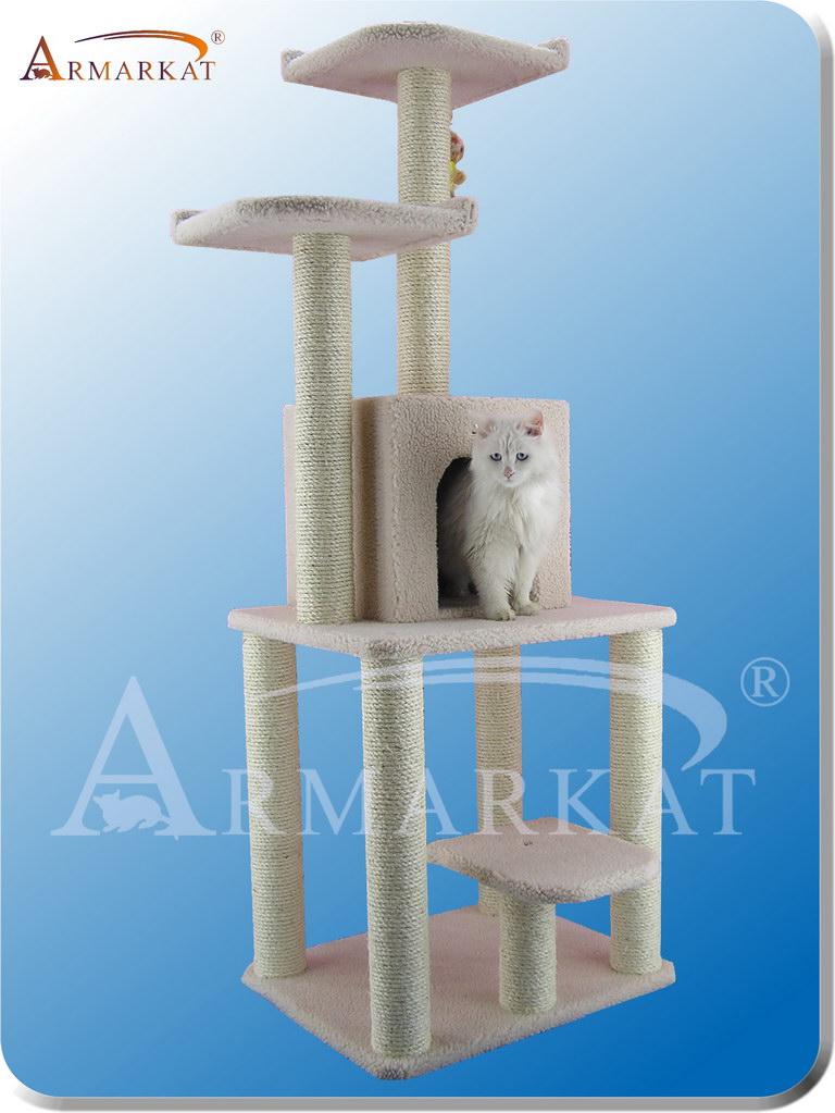"Classic Cat Tree B6203 - Height 62"" - Click Image to Close"