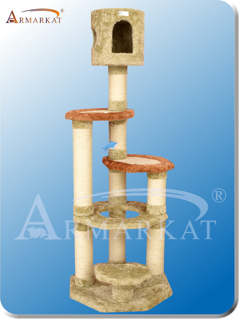 "Premium Cat Tree X6606 - Height 66"" - Click Image to Close"